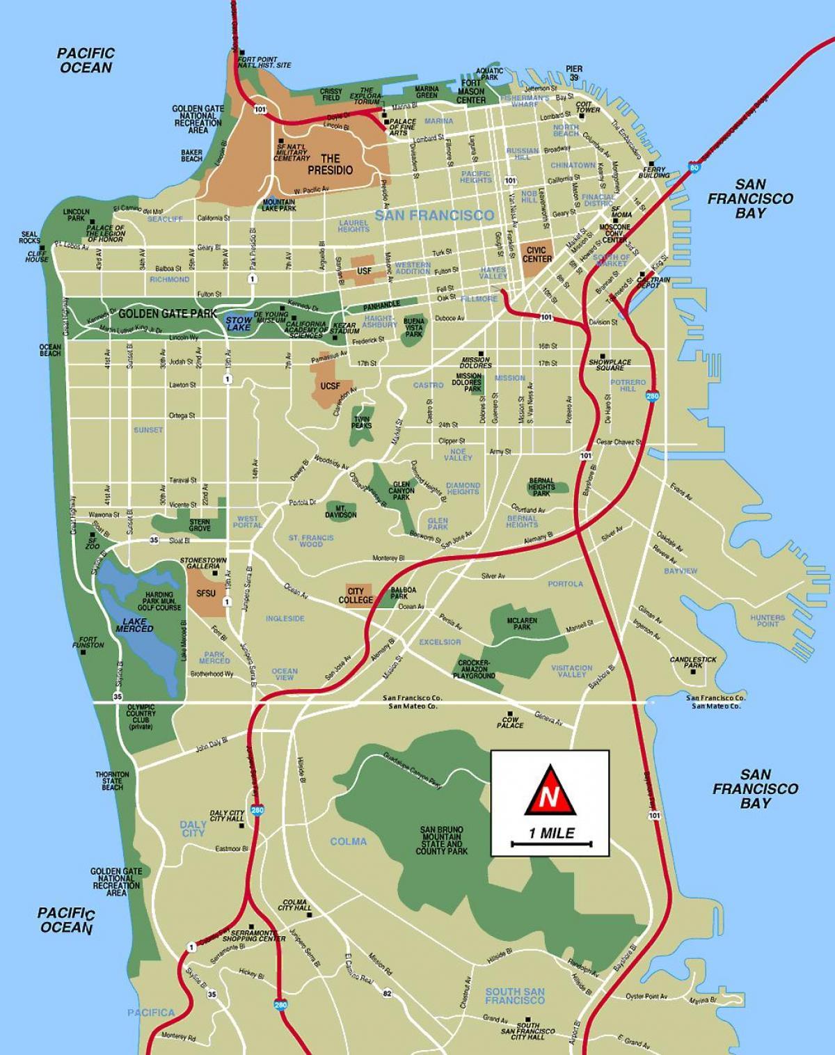 Mapa De San Francisco.San Francisco Offline Map Mapa De San Francisco Sin